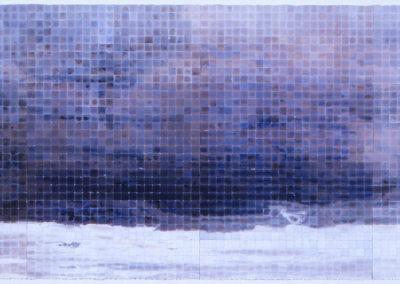 Bohemian cloud study, 2004 van Wim Konings in vier panelen