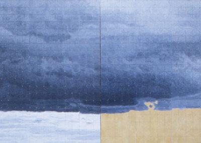 Bohemian cloud study II, 2004 van Wim Konings in tweeluik