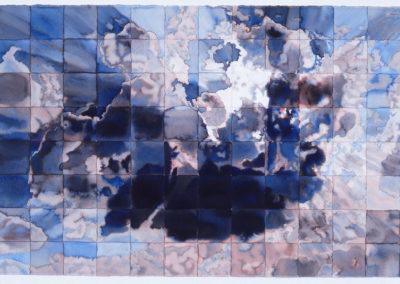 aquarel, wolkenlucht werk van WIm Konings