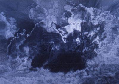 wolkenstudie, olieverf schilderij van Wim Konings