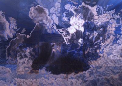 wolkenstudie II in olieverf van Wim Konings