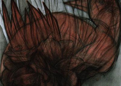 aquarel van Wim Konings met de titel Vogel