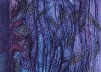 Aquarel kunstwerk van Wim Konings zonder titel
