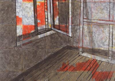 studio, kunstwerk van Wim Konings uit 1988 in acrylverf op linnen