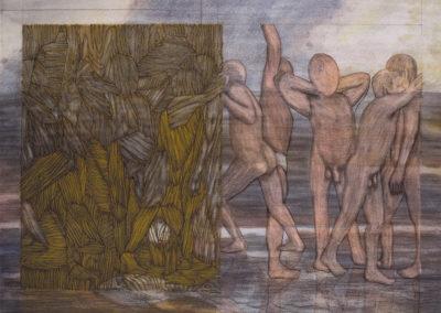 werk van Wim konings dat in bezit is van museum Boymans van Beuningen genaamd Baders
