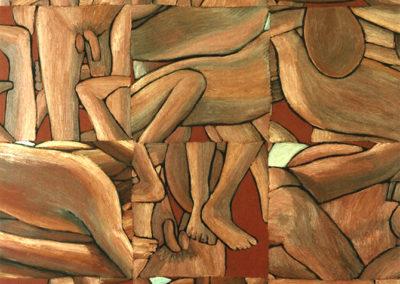 olieverf schilderij van Wim Konings, baders