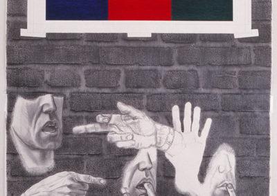 Beweringen omtrent de toepassing van blauw, rood en groen uit 1996 van Wim Konings
