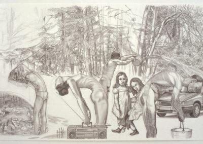 Wim Konings kunstwerk in grafietpotlood uit 1996