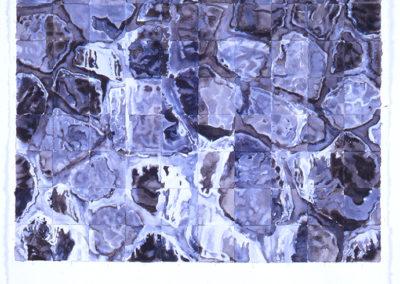 aquarel van Wim Konings Maaskade, 2005