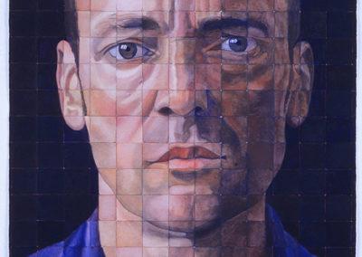 Zelfportret in aquarel van Wim Konings uit 2006