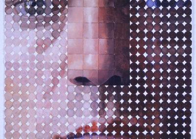 Zelf portret van Wim konings in aquarel uit 2006