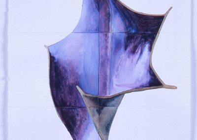 aquarel van een hulstblad van WIm Konings