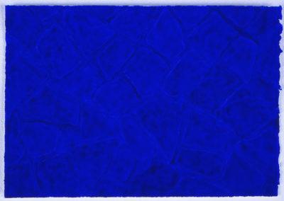zeer blauw werk in aquarel van Wim Konings