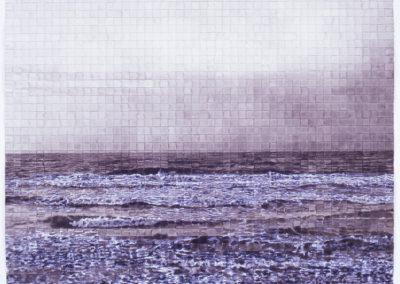 zeegezicht, aquarel van WIm Konings