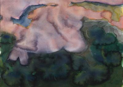 Landschap met berg en mist, 1983