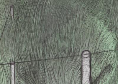 Landschap met gras en regen, 1987