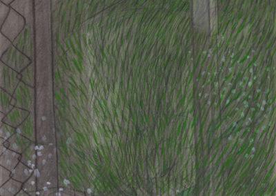 landschap in gemeende technieken van Wim Konings