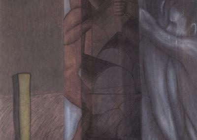Kasimirs droom kunstwerk van Wim Konings in gemengde technieken