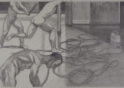 tekening Wim Konings studie voor een tempelreiniging