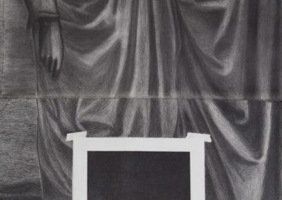 gemengde technieken in drieluik van Wim Konings genaamd de zweetdoek van de heilige veronica