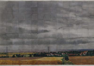 Cloudy sky above Rakovice, 2001