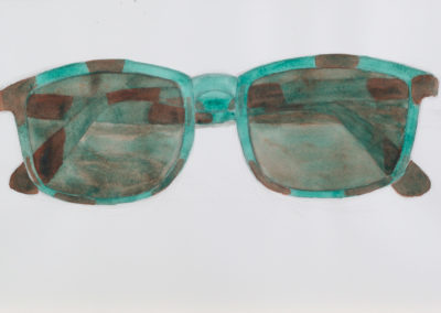 aquarel van een zonnebril van Wim Konings