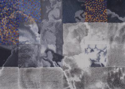 wolkenstudie gemengde technieken Wim Konings