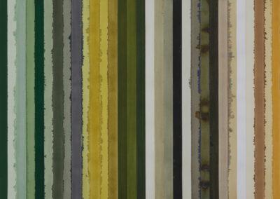 aquarel in vijf delen kleuren studie van Sikkens van Wim Konings