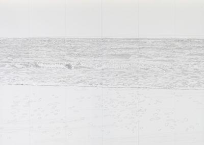 tekening van zee gezicht in grijs tinten van Wim Konings