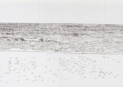 aquarel van zee gezicht in grijs tinten van Wim Konings