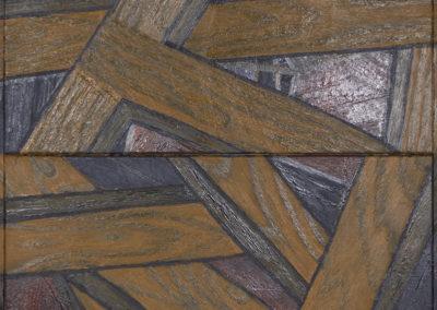 houtstructuren in olieverf van Wim Konings