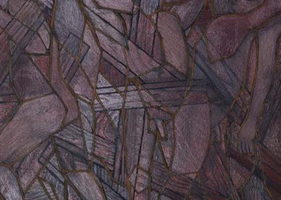 olieverf schilderij van Wim Konings in paars tinten
