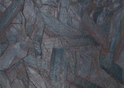 olieverf schilderij van Wim Konings in blauw tinten