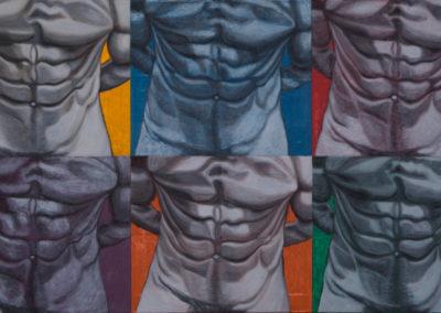 Studie van kleur als body building, 1999