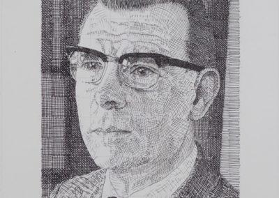 pentekening van Wim Konings een portret van zijn vader