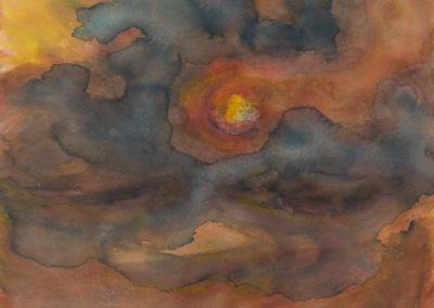 Zonsondergang boven kwelder, 1983