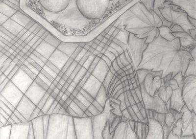 Stilleven met appels en kamerplant, 1985