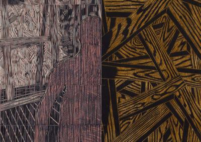 hout en een figuur van Wim Konings